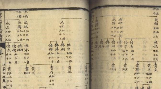 zupu 族谱 chinese ancestors
