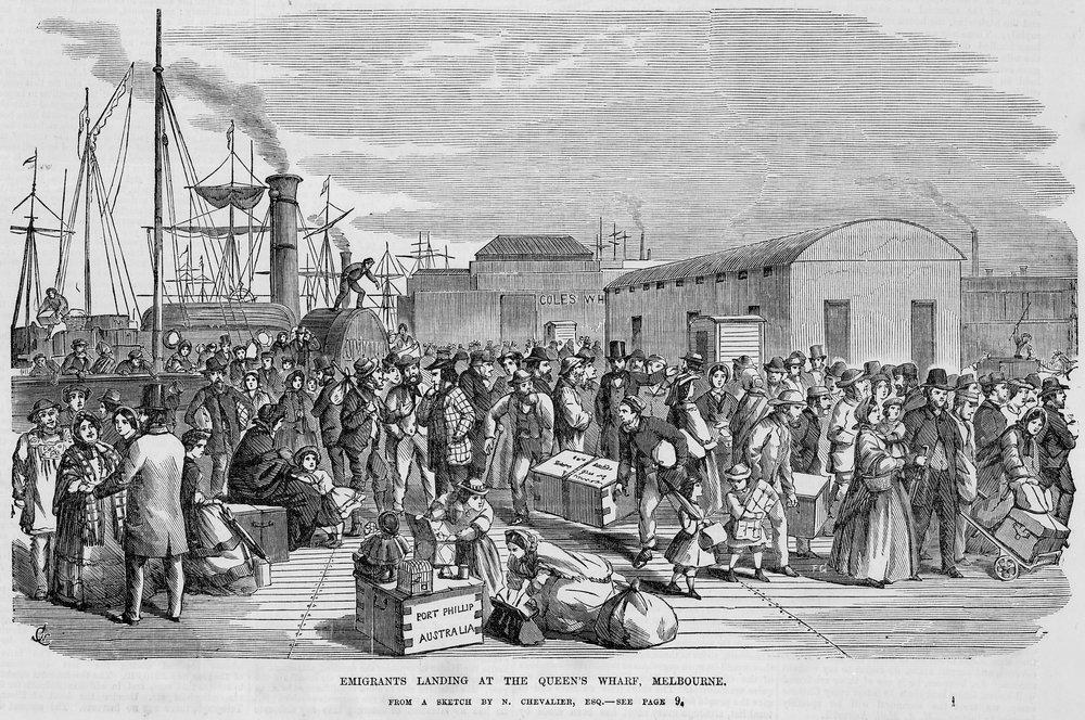 migrant_landing_SouthMelb_1850s